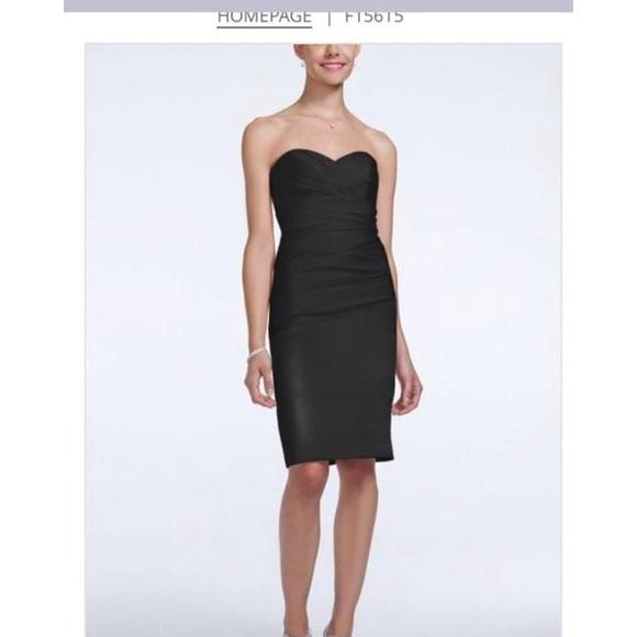 Davids Bridal Dresses Black Satin Bridesmaid Dress Poshmark